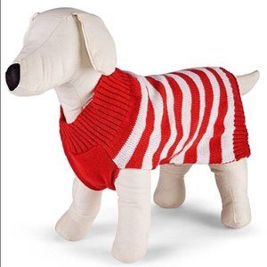 Family Pjs Matching Holiday Stripe Pet Sweater